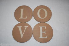 "Home Decor HANGING SIGN LETTERS Arrange as Desired L O V E Circles 5"" DIAM Love"
