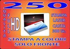 250 BIGLIETTI DA VISITA A COLORI 300GR STAMPA FRONTE  - HD