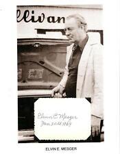 Elvin Mesger Autograph Bowling Legend Perfect 300 Guinness Book Records PBA #1