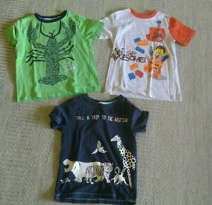 3  Kids Casual Clothing Tops T Shirts Boy Size  S (different brands)