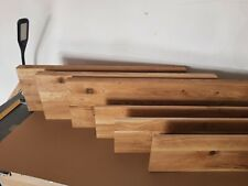 rustic oak stair cladding - brushed and oiled