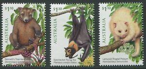 TREE DWELLERS OF THE TROPICS 2020 - MNH SET OF THREE (T388)