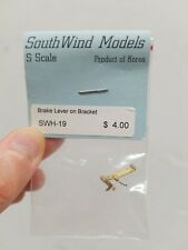 S Scale South Wind Models Brake Lever on Bracket SWH-19 Brass Train Parts Korea