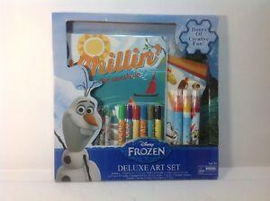 Disney Frozen Deluxe Art Set.  Olaf Chillin In The Sunshine. age 3+