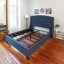 Full Size Bed Frame Sturdy Metal Mattress Base Replaces Bed Frame And Box Spring