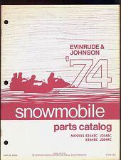 1974 JOHNSON EVINRUDE E254RC / E264RC / J254RC / J264RC SNOWMOBILE PARTS MANUAL