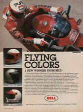 1985 Eddie Lawson Bell M-2 Motorcycle Helmet - Vintage Ad