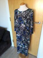Ladies TU Dress Size 22 Blue Stretch shift Smart Party Day
