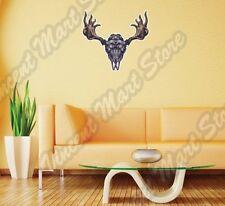 """Moose Skull Antlers Hunting Hunter Deer Wall Sticker Room Interior Decor 25""""X20"""""""