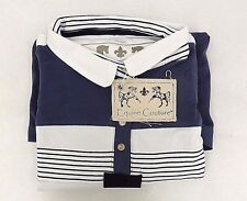Equine Couture Womens Brentwood Long Sleeve Polo Blue And White Size XXXLarge