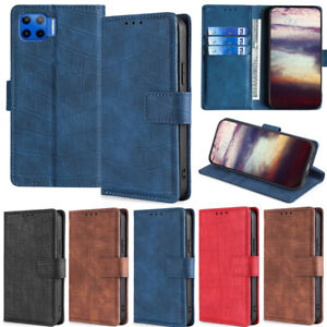 Leather Flip Case For Motorola Moto G9 Play G30 E6 Play Crocodile Wallet Cover