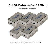 5x LSA Verbinder Cat.6 zum Verbinden / Reparieren von Netzwerk ISDN Kabel