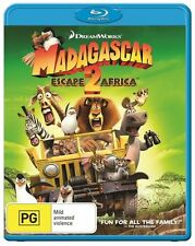 Madagascar- Escape 2 Africa (Blu-ray, 2014) *New & Sealed* Region B