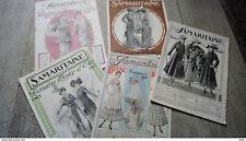 lot 5 catalogue ancien la samaritaine paris 1912  1916 mode  femme homme enfant