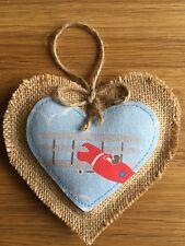Coeur Décoration Cath Kidston vintage avions Handmade suspendu rouge