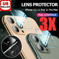 For Apple iPhone 11 Pro Max FULL COVER 9D Tempered Glass Camera Lens Protector
