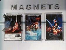 Star Wars Fridge Magnet Set. Original Trilogy. Emptire Strikes Back, Jedi