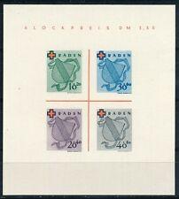 Frz. Zone Baden Rotes Kreuz Block 1949 Block 2 Type II/IV  (S11130)