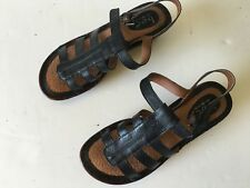 BOC Born Concept Black Leather Sandals Women Size 9M Ex.Cond!