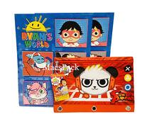 Ryan's World 2 School Folders Pencil Pouch Portfolio School Supplies Combo Panda