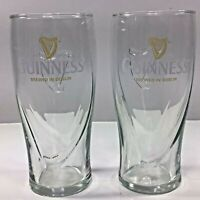 Guinness Brewery Ireland Harp 16 Oz Beer Pint Drink Glass Barware Ale Irish Set