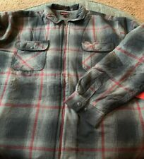 Nwt Wolverine Lined Flannel Jacket Big&Tall Size 2XLT Marshall SJ Gray/Red G4