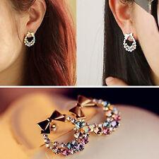 Wholesale Lots 1pair Elegant Crystal Rhinestone Ear Stud Earrings Jewelry Stock