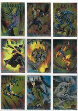X MEN FLEER ULTRA 1995 SINISTER OBSERVATIONS CARDS 1 TO 10 CHROME FINISH CHOOSE