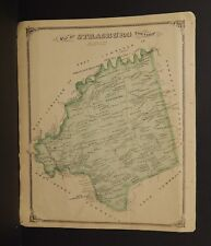 Pennsylvania Lancaster County Map Strasburg Township 1875 Dbl Side Y15#28