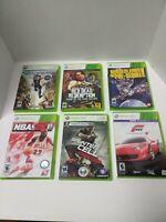 Lot of 6 Xbox 360 Games: Shadowrun, Red Dead, Borderlands, NBA, Splinter, Forza