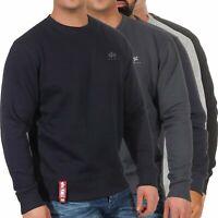Alpha Industries Herren Pullover Sweatshirt Pulli Sweater Rundhals 188307
