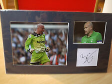 Mounted Brad Friedel Signed Card & Photo Display - Spurs & USA Football