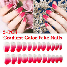 Long Flase Nails 24 Faux Nails Press on Nails Glue in Acrylic Nails Artificial C