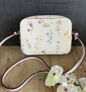Nwt COACH Mini Camera Bag In With Spaced Wildflower Print Chalk Multi