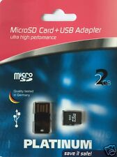 Platinum Micro SD Card 2GB mit USB Adapter 177314