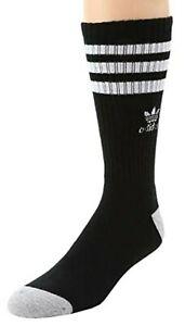 aAidas, Original mens Roller Black Crew Socks, Size 6 -12, .99 Shipping