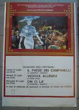 ANNI '80 - POSTER CALENDARIO DEGLI SPETTACOLI TEATRO DI SANREMO - CASINO' (MAN)