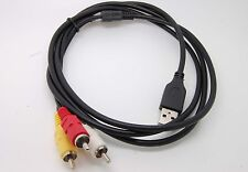 3 RCA Male to USB 2.0 Male A Composite Adapter Audio Video AV HDD DVR Data Cable