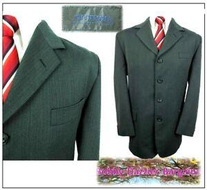 "Vittoria 4 button 2 piece mens suit Ch42""S W36"" L28"" Grey Ribbed"