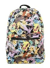 Pokemon Go Eevee Evolutions Collage Sublimation Backpack School Book Bag NWT!