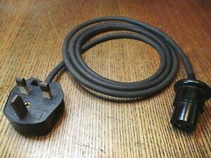 UK mains to Bulgin lead, 3-pin 13A plug/Bulgin 3-pole line socket, checked