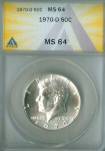 1970-D Kennedy Half Dollar 50C ANACS MS 64 (2126892)