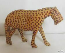 "Stalking Cheetah Hand Carved aand Hand Painted 5 x 3"" Africa"
