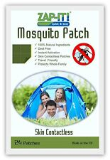 ZAP-IT! Mosquito Patch - 100% Natural, Deet Free, Skin Contactless. 24 Patches