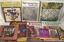Quilting Quilt Book Lot Traditional Little Fat Quarter Small Garden Sewing Patte