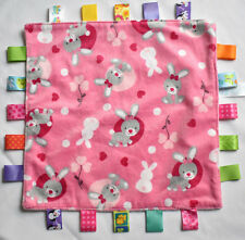 ORIGINAL TAGGIES  PINK BUNNY BABY BLANKIE SOFT TOY comforter NWOT NEXT DAY POST