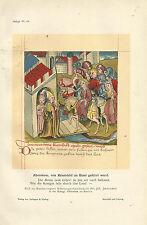 1910 Faksimile Bild aus Hundeshagens Nibelungenhandschrift