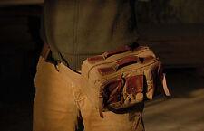 Light vintage canvas pocket leather camera bag