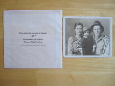 Elvis Presley & Parents Photo in Tupelo in 1937   EPE Product
