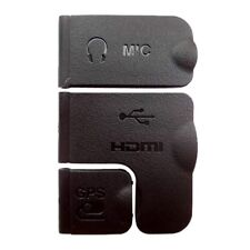 Original USB HDMI MIC GPS Cover Lid Set Part Replacement FOR Nikon D600 Part